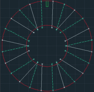 Paired-spoke pattern for use with large hub