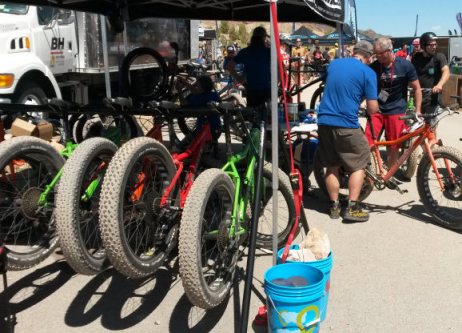 Fatbikes were big at the 2014 Outdoor Demo.
