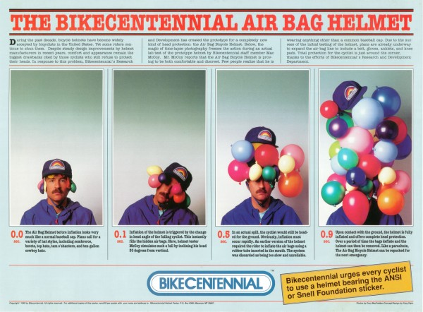 Air bag helmet poster