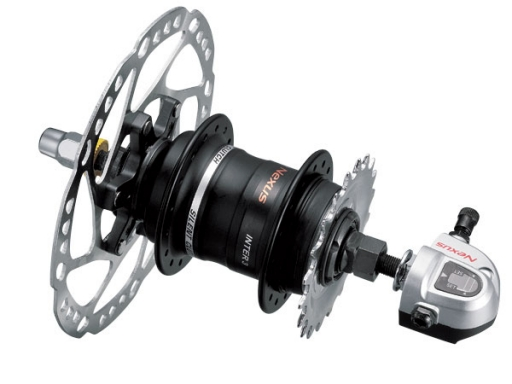 Shimano Nexus SG-3D55 3-speed hub.