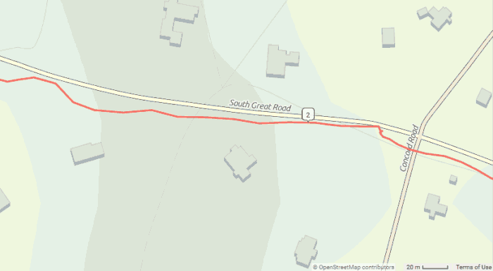 Example of GPS wander
