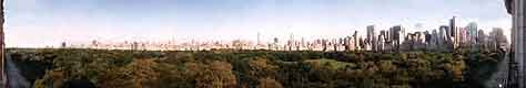 180 degree panorama of New York's Central Park