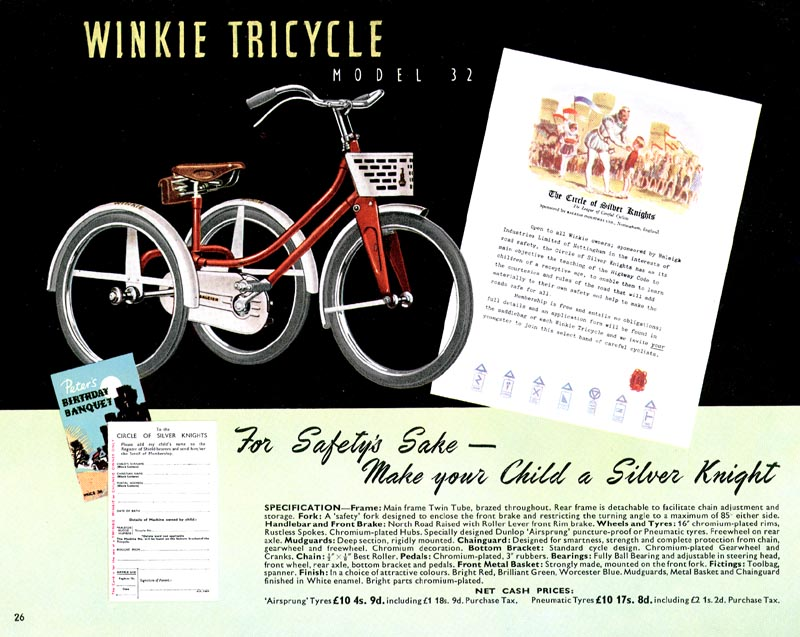 Retro Raleighs-1951 Raleigh Catalogue Page 26 The Winkie ...