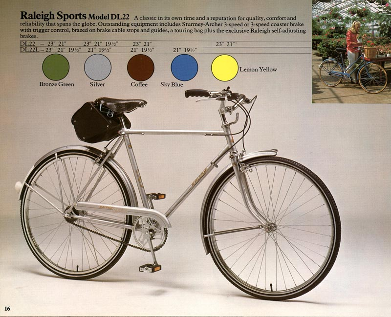 1976 raleigh sports three speed. Black Bedroom Furniture Sets. Home Design Ideas
