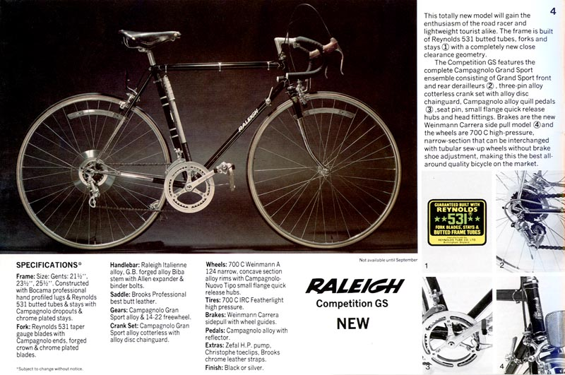 Retro Raleighs The Competition Series