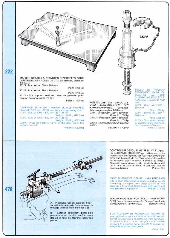 Var frame and fork alignment tools
